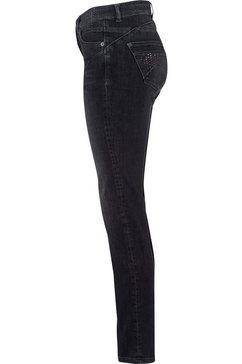 mac slim fit jeans »rich-slim glam« grijs
