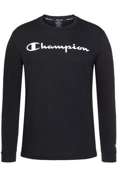 champion shirt met lange mouwen »crewneck long sleeve t-shirt« zwart
