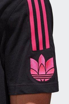 adidas originals t-shirt »adicolor 3d trefoil 3-streifen« zwart