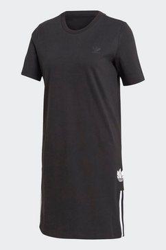 adidas originals sweatjurk »adicolor 3d trefoil t-shirt-kleid« zwart
