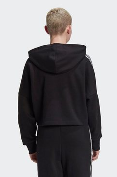 adidas originals hoodie »adicolor 3d trefoil cropped« zwart