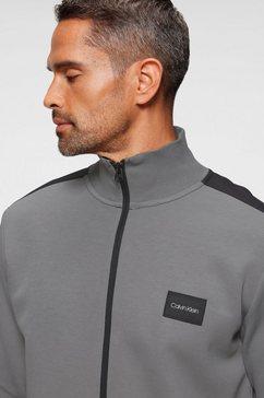 calvin klein sweatvest »mix media back logo sweatpants« grijs