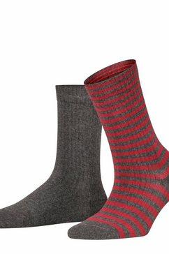 esprit sokken »sporty stripe 2-pack« grau