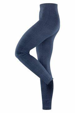 esprit legging »tweed check« blauw