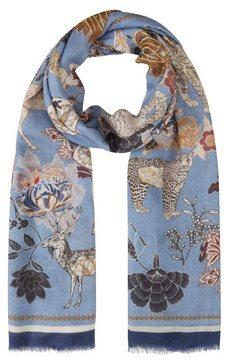codello zijden sjaal blauw