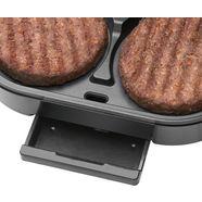 clatronic »hbm 3696« hamburger maker zilver