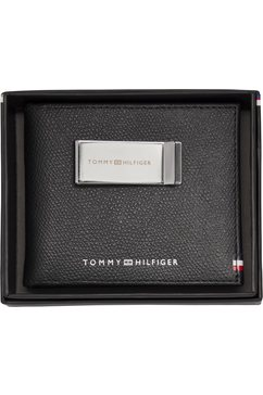 tommy hilfiger portemonnee »business mini cc wallet and clip« zwart