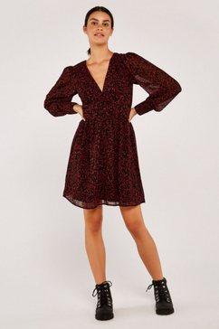 apricot gedessineerde jurk »abstract dot cuff sleeve dress« rood