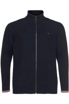 tommy hilfiger vest »bt-bold structure zip through-b« blauw
