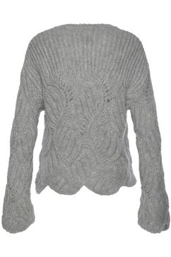 herrlicher trui met ronde hals »tirina« grijs