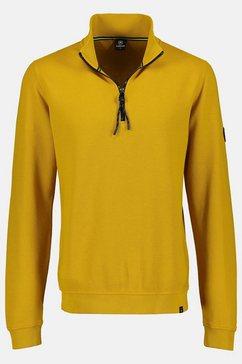 lerros sweatshirt »troyer« geel