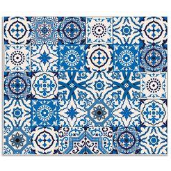 artland keukenwand »orientalische fliesen« blauw