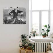 artland artprint »king kong 1933 ii« zwart