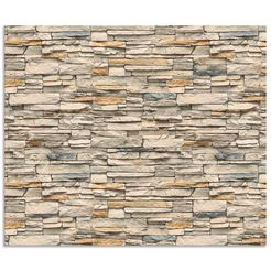 artland keukenwand »braune alte ziegelmauer« beige