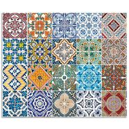 artland keukenwand »gemusterte keramikfliesen« multicolor