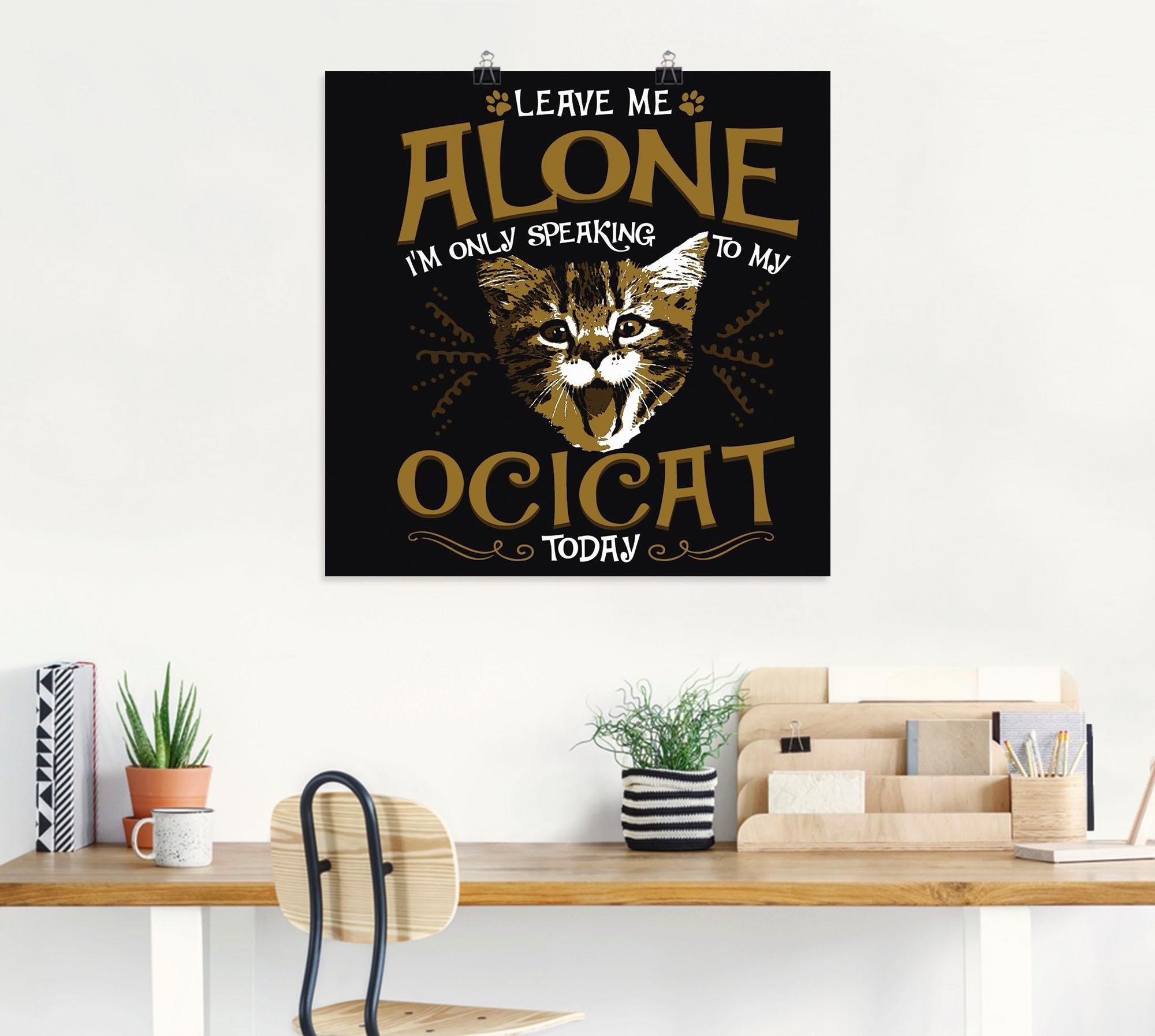 Artland artprint »Ocikatze Katze Haustier Tier Lustig« nu online bestellen