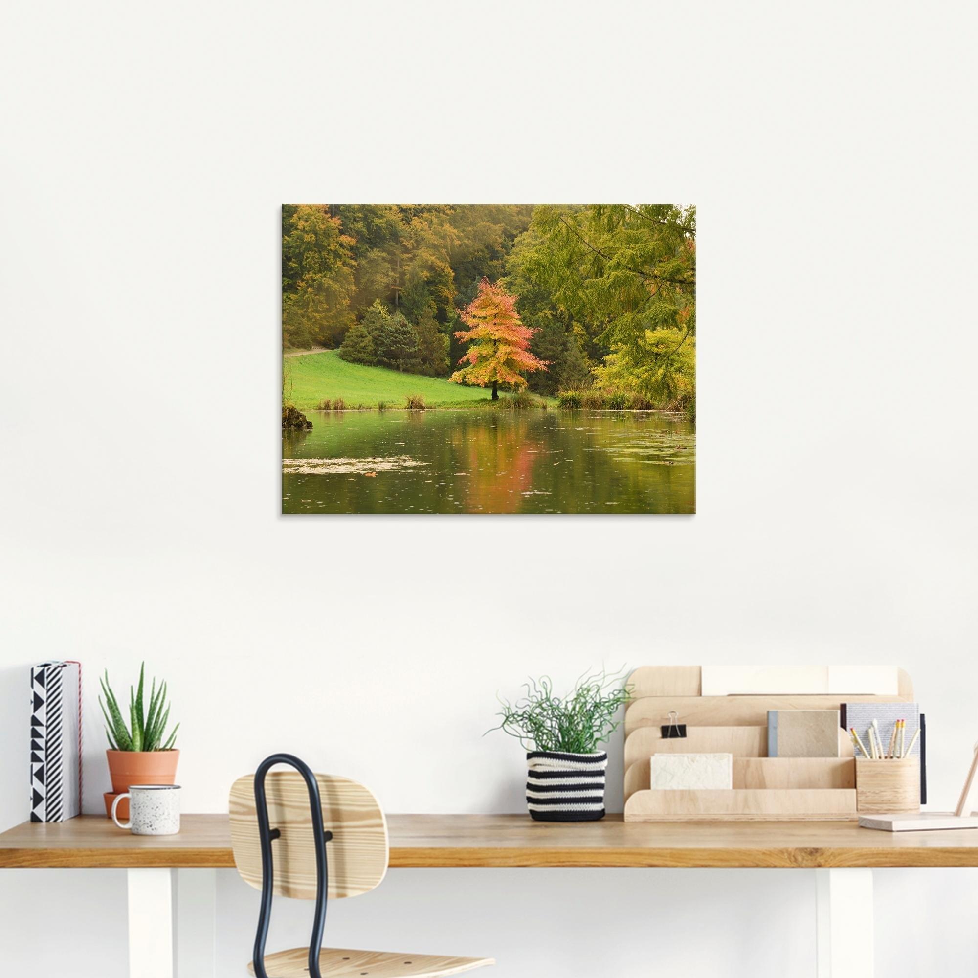 Artland print op glas »Herbstbäume« bij OTTO online kopen