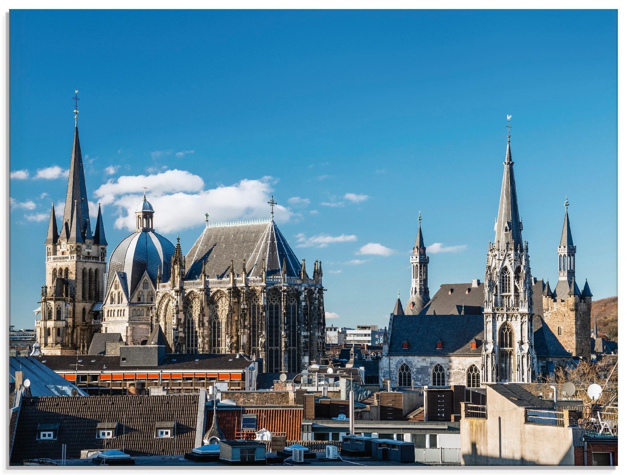 Artland print op glas »Aachen« nu online kopen bij OTTO