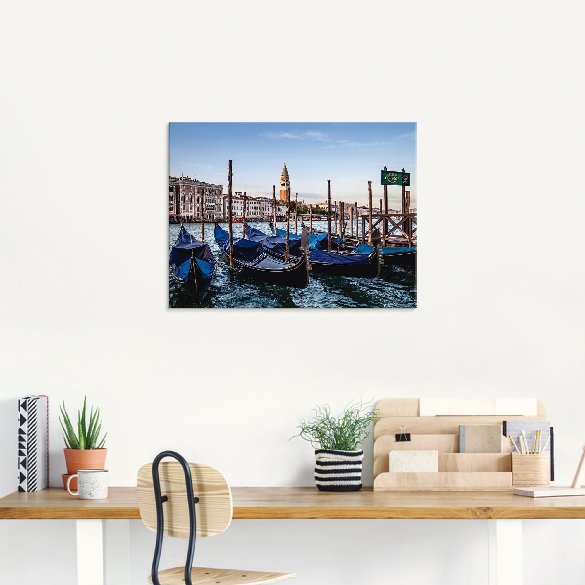Artland print op glas »Venedig Canal Grande mit Gondeln« voordelig en veilig online kopen