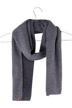 levi's gebreide sjaal grijs