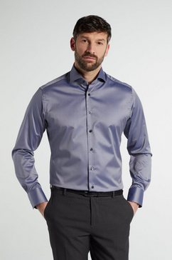 eterna businessoverhemd modern fit lange mouwen grijs