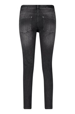 betty barclay slim fit jeans »mit reissverschluss« grijs