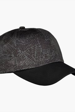 lerros baseballcap »maps« zwart