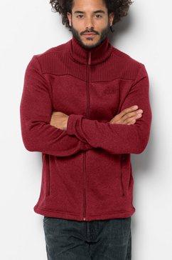 jack wolfskin fleecejack »scandic jacket men« rood