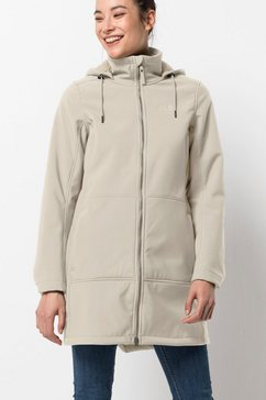 jack wolfskin softshell-jack »windy valley coat w« beige