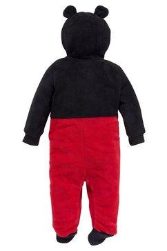 mickey fleece-jumpsuit schwarz