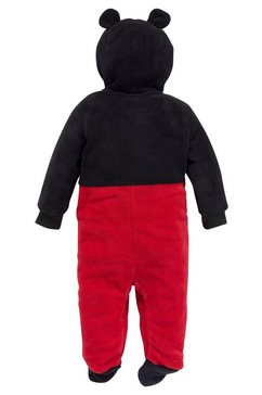 mickey fleece-jumpsuit zwart