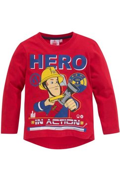 feuerwehrmann sam shirt met lange mouwen »hero in action« rood