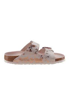 birkenstock slippers »arizona vintage metallic« roze