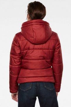 g-star raw gewatteerde jas »meefic« rood