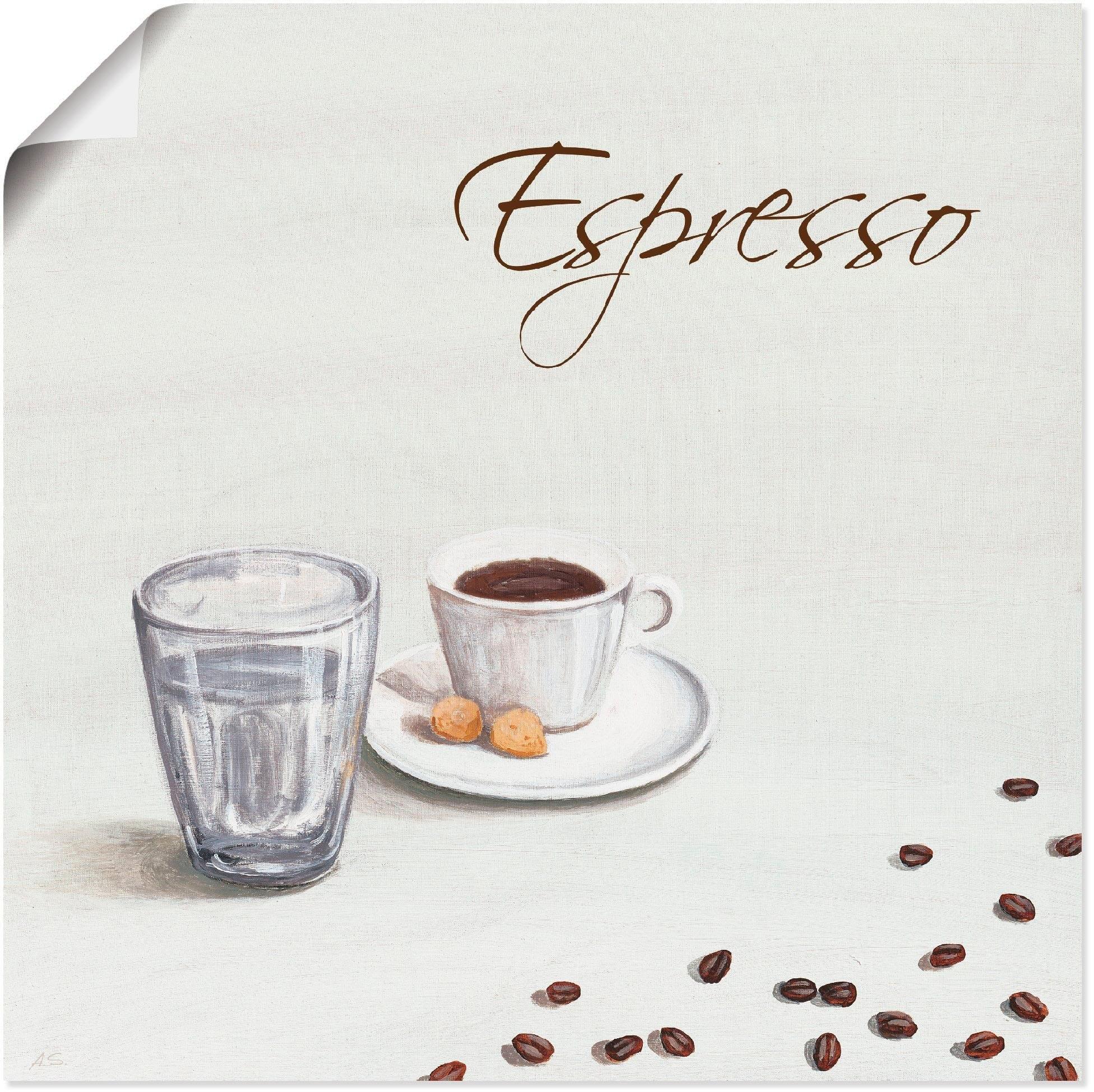 Artland artprint »Espresso III« - verschillende betaalmethodes
