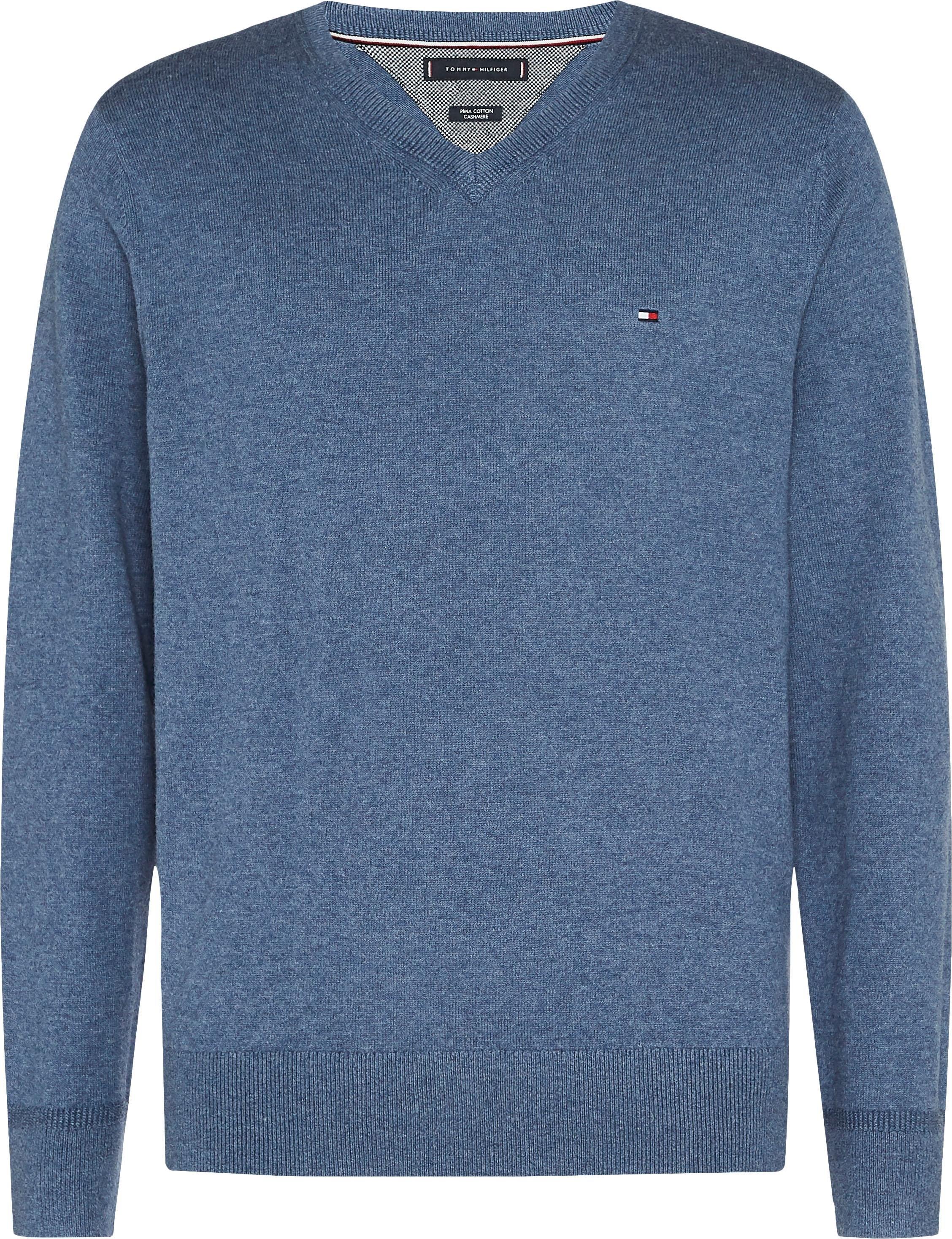 TOMMY HILFIGER trui met V-hals »PIMA COTTON CASHMERE V NECK« voordelig en veilig online kopen