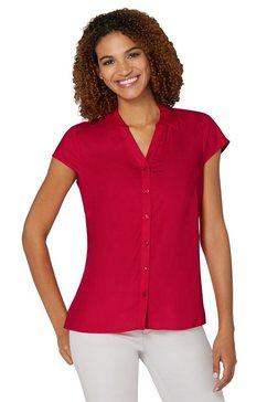 casual looks blouse met korte mouwen rood