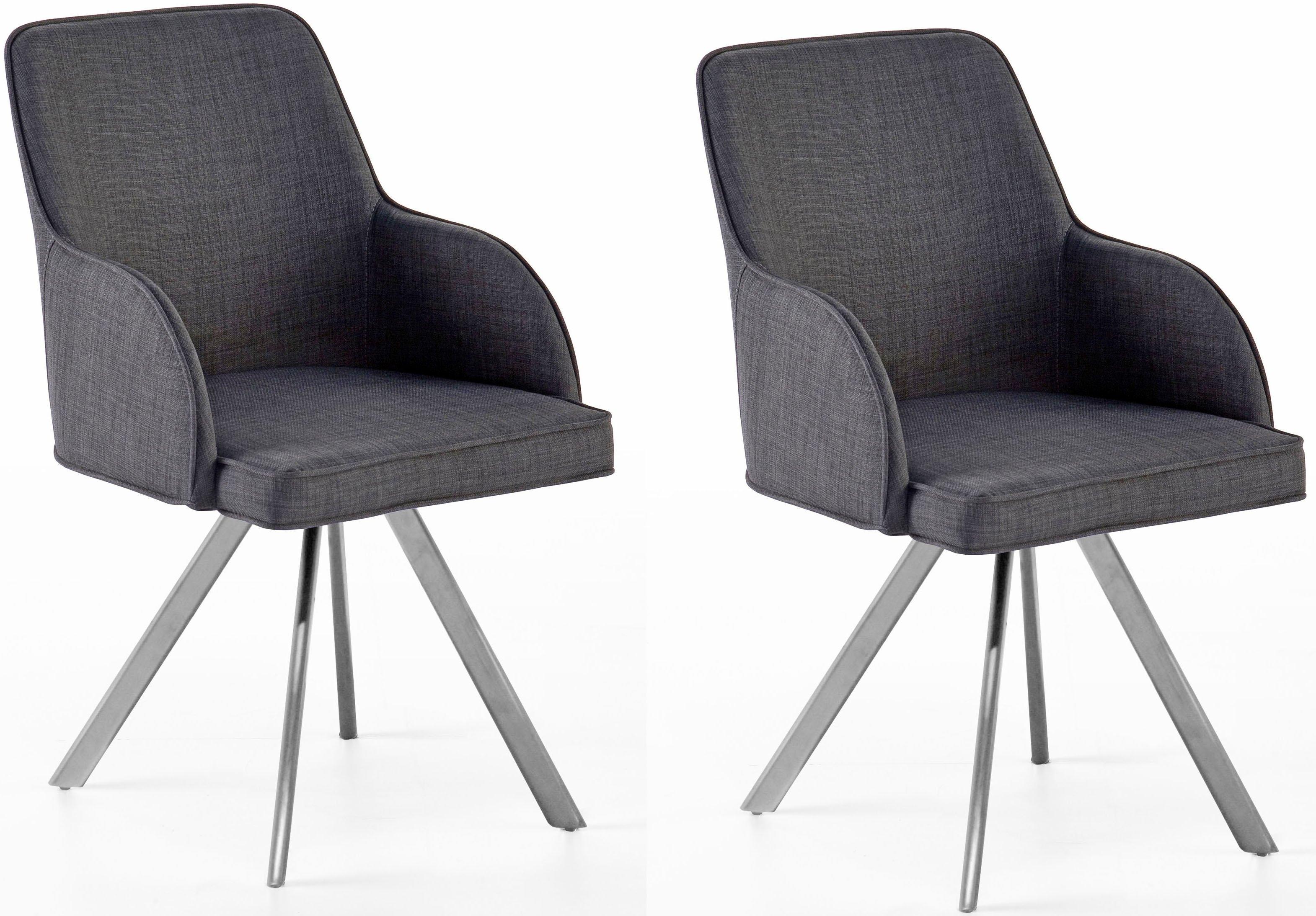 MCA furniture eetkamerstoel Elara C 180° draaibaar met retourveer, belastbaar tot max. 120 kg (set, 2 stuks) bij OTTO online kopen