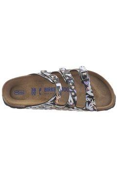 birkenstock slippers »florida floral« zwart