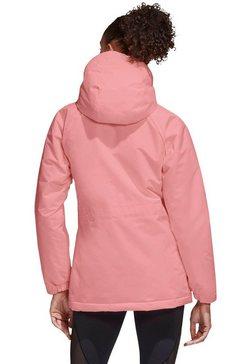 adidas performance winterjack »xploric 3 stripes winter jacket« roze