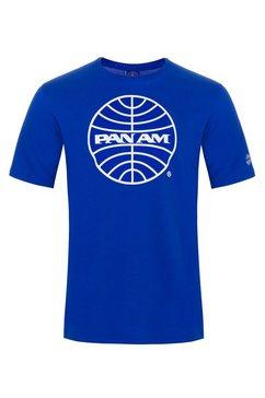 pan am shirt met print blauw