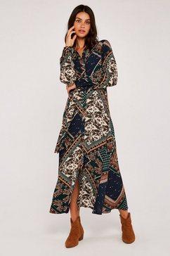 apricot gedessineerde jurk »scarf print shirt maxi dress« groen