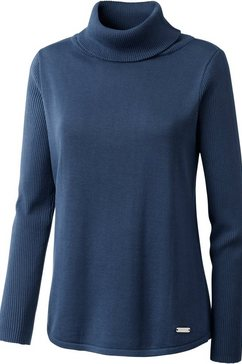 casual looks gebreide trui blauw