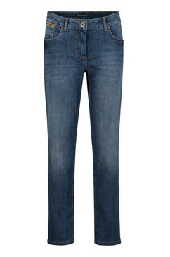 betty barclay tapered jeans »mit waschung« blauw