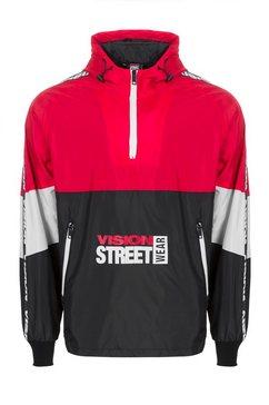 vision streetwear windbreaker rood