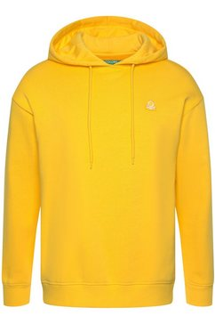 united colors of benetton hoodie geel
