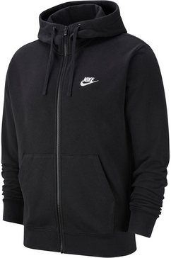 nike capuchonsweatvest »men's full-zip french terry hoodie« zwart