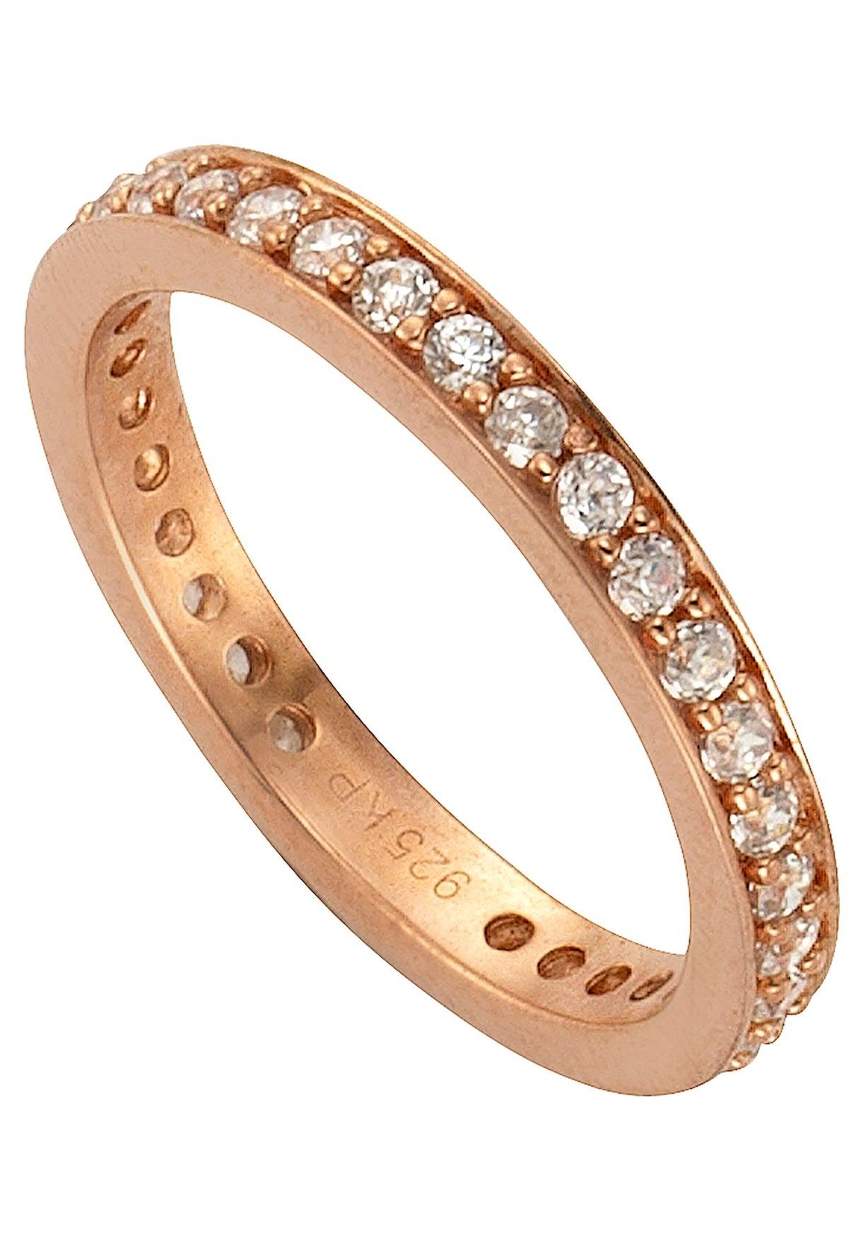 Firetti zilveren ring Memoire, schitterend rozeverguld, 3 mm met zirkoon - gratis ruilen op otto.nl
