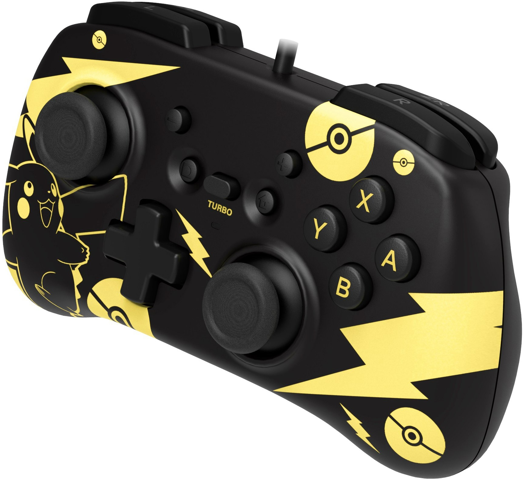 Hori controller Switch Mini Controller - Pikachu Black & Gold Edition - gratis ruilen op otto.nl
