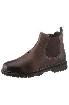 geox chelsea-boots u andalo met praktische aantreklus bruin
